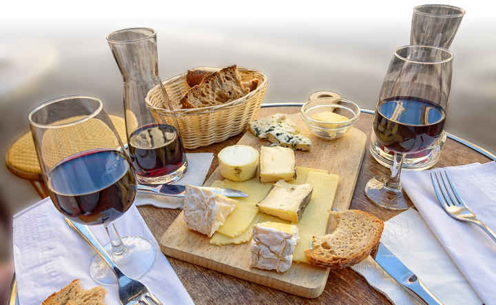 Wine and cheese - France