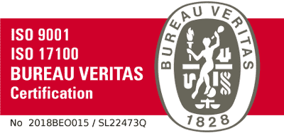 Quality translation services - Bureau Veritas certification sign for ISO17100 and ISO9001