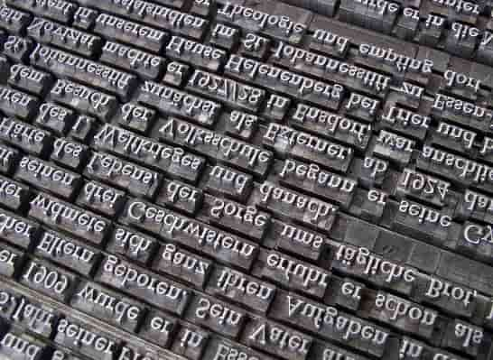 Typesetting and proofreading